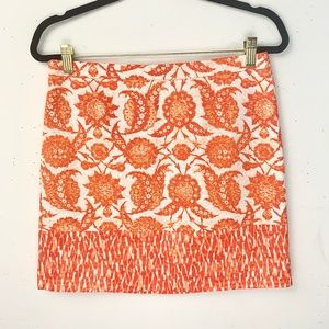 Michael Michael Kors Orange Paisley Mini SKirt